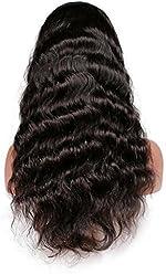 Full Lace Wigs Hand Made Human Hair Remy 100% Brazilian Virgin #1b Body Wave