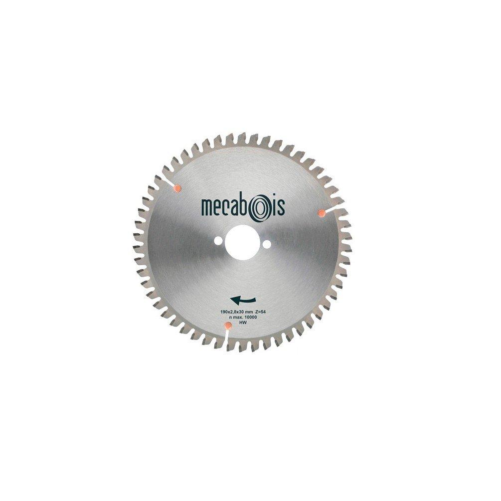 Sidamo–Klinge Wolframcarbid Universal D. 255x 3,2x 30mm Z 80TP nég.–Aluminium/Holz mit Nieten/Schilder–280181