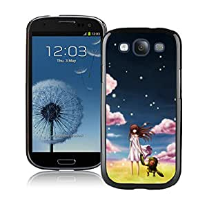 Unique And Antiskid Designed Cover Case For Samsung Galaxy S3 I9300 With Clannad Ushio Black Phone Case