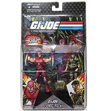 GI Joe Hasbro 25th Anniversary 3 3/4 Wave 5 Action Figures Comic Book 2Pack Falcon Nemesis Enforcer