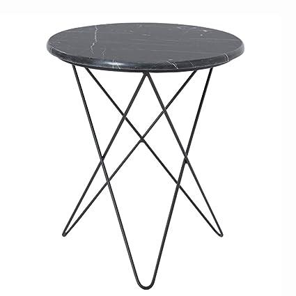 Fabulous Amazon Com Gwdj Side Table Simple Marble Round Iron Art Inzonedesignstudio Interior Chair Design Inzonedesignstudiocom