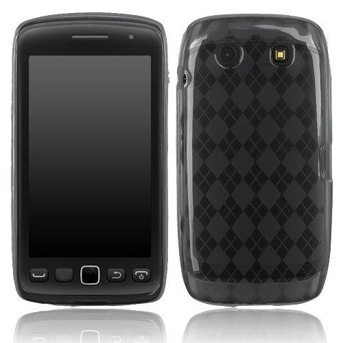 BlackBerry Torch 2 9850/9860 - Smoke Checker Argyle Transparent TPU Skin [AccessoryOne -