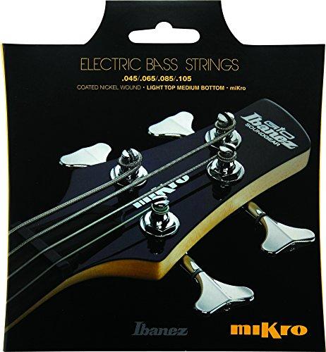 - Ibanez IEBS 4 Coated Nickel Wound Mikro Bass Guitar Strings (IEBS4CMK)