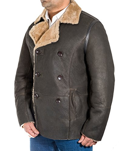 A Doubler Longue Petit Naval Manteau Z To Mens Breasted Mouton Pois Leather Tranchže Brown De Allemand Shearling Poisu fROqfrw