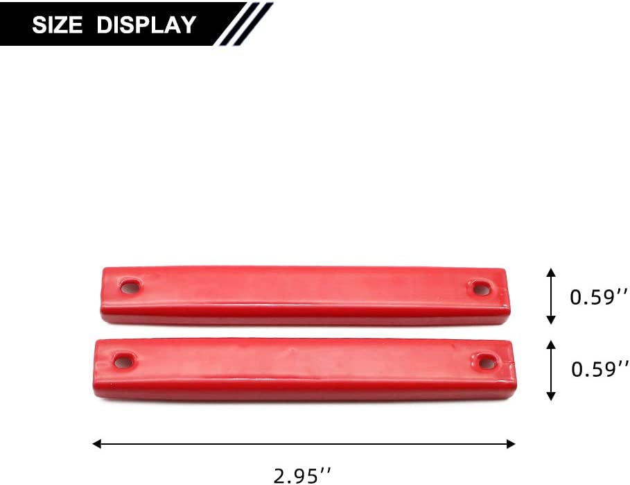 Red, 2 Pack FLYFISH Rubber Coated Magnetic License Plate Frame with Parts