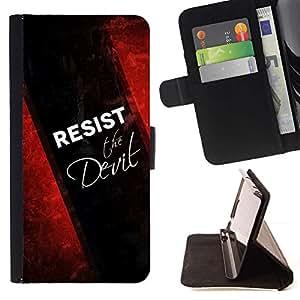 Momo Phone Case / Flip Funda de Cuero Case Cover - BIBLIA resistid al diablo; - HTC One A9
