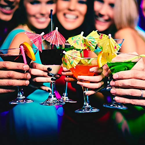 BOAO 288 Pieces Colors Flowers Drinks Cocktail Umbrella Decor, Cupcake Toppers Umbrella Paper Cocktail Drink Parasols Tropical Drink Umbrella Picks for Hawaiian Party and Pool Party Supplies by Boao (Image #6)