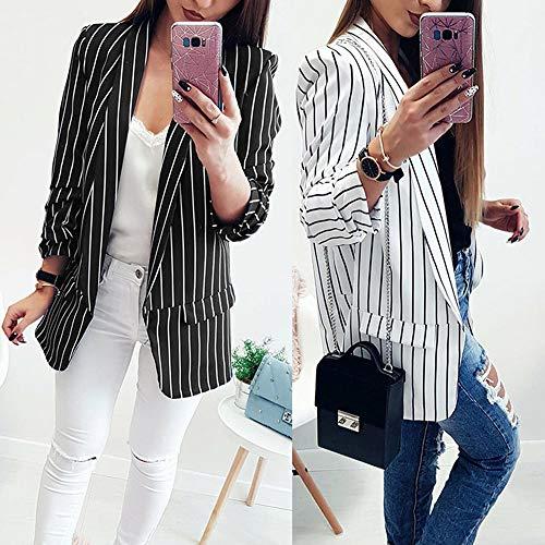 BeautyVan-Winter Clearance Sale! Women Coat Jacket Short Blazer Suit Ladies Striped Duster Blazer Fall Jacket Coat at Amazon Womens Clothing store: