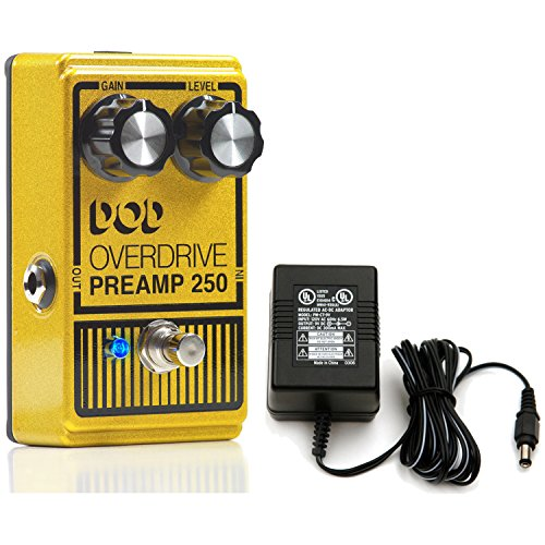 DOD 250 Overdrive Stomp Box Effects Pedal W Power Supply Dod Overdrive