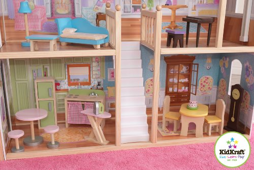 51Xjlj2CPIL - KidKraft So Chic Dollhouse with Furniture