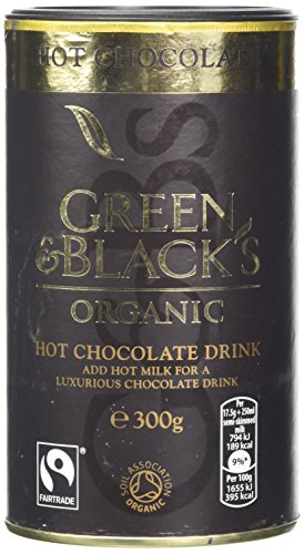 Blacks Organic Hot Chocolate - Green & Black's Organic Fairtrade Hot Chocolate Drink (300g)