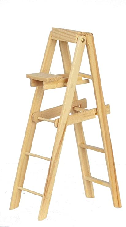 Dollhouse Working Wood Stepladder Step Ladder 1:12 Doll House Miniature