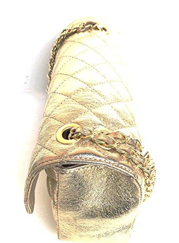 Golden véritable Superflybags Italy Sac cuir Parig Modèle main à matelassé Classic Made en RX7qnrXxw