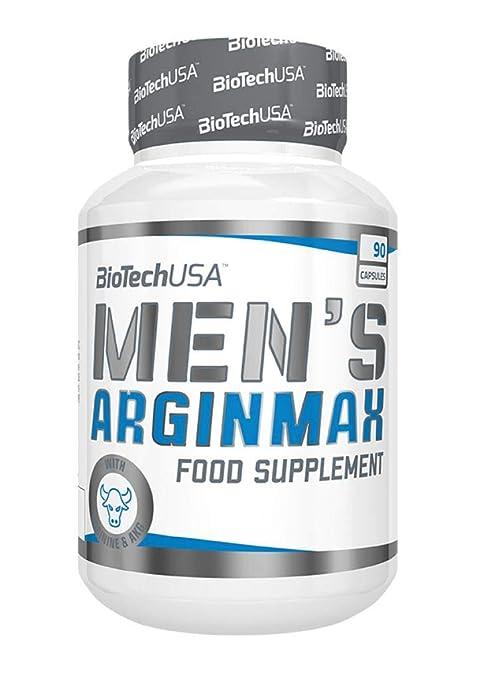 Biotech USA MenS Arginmax Vitaminas y Minerales - Suplemento alimenticio, 90 Tabletas