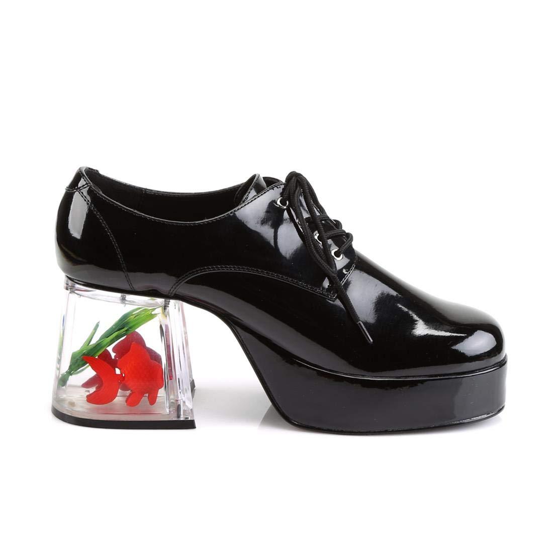crazy insane clear heel fish bown platform pimp shoes for