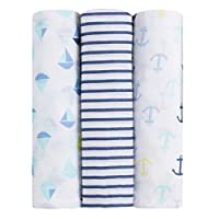 ideal baby by the makers of aden + anais swaddle 3 pack, set sail