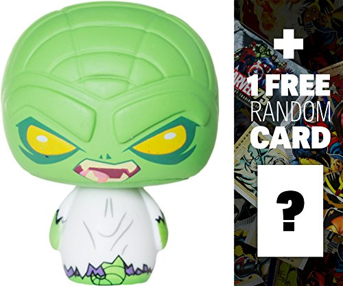 Lizard: Funko Pint Size Heroes x Spider-Man Micro Vinyl Figure + 1 FREE Official Marvel Trading Card Bundle (11155)
