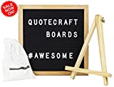 Felt Letter Board 10'' x 10'' - Quotecraft Boards - Includes: Canvas Bag, Easel Stand and 300 Letters
