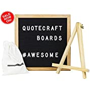 Felt Letter Board 10  x 10  - Quotecraft Boards - Includes: Canvas Bag, Easel Stand and 300 Letters
