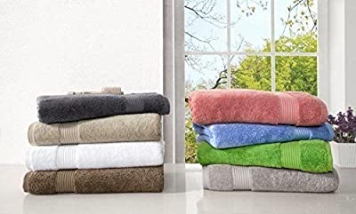 Premium, Luxury Hotel & Spa, Turkish Cotton 6-Piece Towel Set for Maximum Softness and Absorbency by American Veteran Towel
