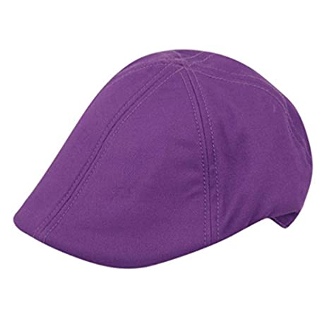 5e89fd32569b2 Image Unavailable. Image not available for. Color  Purple Gatsby hat  Duckbill Duck Cap Newsboy Men Women Golf Flat Hat