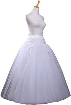 A-LINE FULL BRIDAL WEDDING GOWN DRESS PETTICOAT CRINOLINE SKIRT SLIP NEW