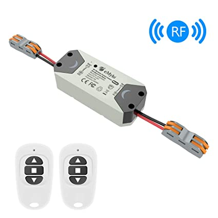 eMylo Smart Wireless RF Motor Controller Switch RF Relay Module DC 12V  Motor Remote Control Switch 5V-24V 433Mhz Support Rolling Door/Electric
