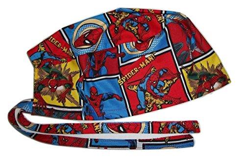 Surgical Scrub Hat Cartoon Superheroes Fabric Nurse Cap Doctor Chemo ER Skull