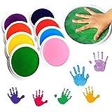 Holoras Ink Stamp Pads for Kids, 8 Colors Washable Craft Fingerprint Ink Pad Kit for Children DIY Painting