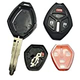 2008 mitsubishi eclipse key cover - Replacement Key Fob Case Shell & Pad for Mitsubishi Eclipse Lancer Endeavor Galant Outlander 4 Buttons Keyless Entry Remote Car Key Fob Cover Casing with Uncut Blade Blank (Model 1)