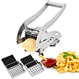 French Fry Cutter, CUGLB Food-grade Stainless Steel Fry Cutter with...