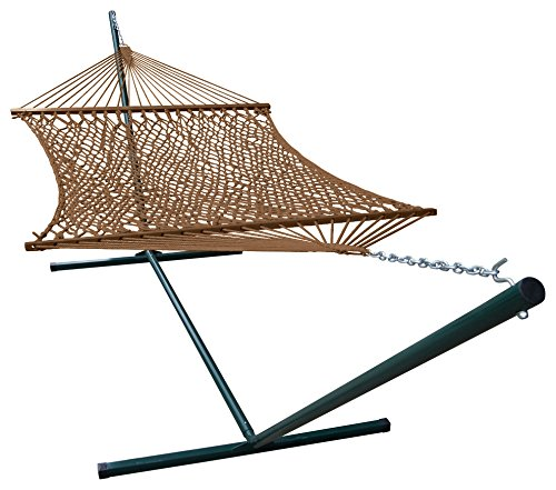 Phat Tommy Outdoor Polyester Garden Hammock and Stand Set...