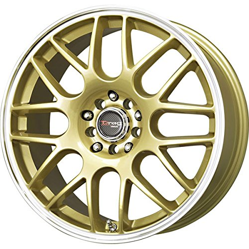 Drag Wheels DR-34 17x7.5/ 5x100/ 5x114.3 et45 Gold rims