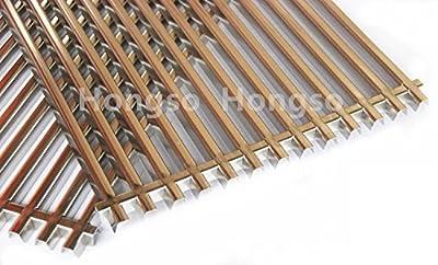 """Hongso 17.25"""" Stainless Steel Grill Grid Grates for Weber Spirit E-310 & E-320, Spirit S-310 & S-320, Spirit 700, Weber 900, Genesis Silver B/C, Genesis I - IV & 1000-5000, 7527 65619 7525 SCG527"""
