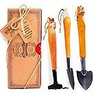 aGreatLife Gardening Hand Tool Set: Best Handcrafted Wooden Outdoor Accessories For Girls and Boys- Includes 3 Essential Garden Equipment