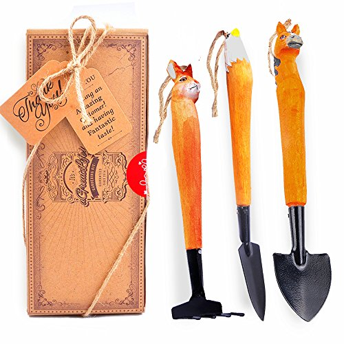 aGreatLife Succulent Gardening Hand Tool Set: Best Handcrafted Wooden Garden Tools/Accessories For Miniature Fairy Garden Planting, Succulent Garden or Bonsai Tree Garden - Includes 3 Essential Tools hot sale