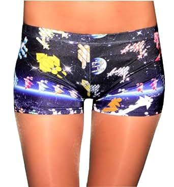 FunLeggings Multi Color Retro Spandex Shorts - Size X-Small
