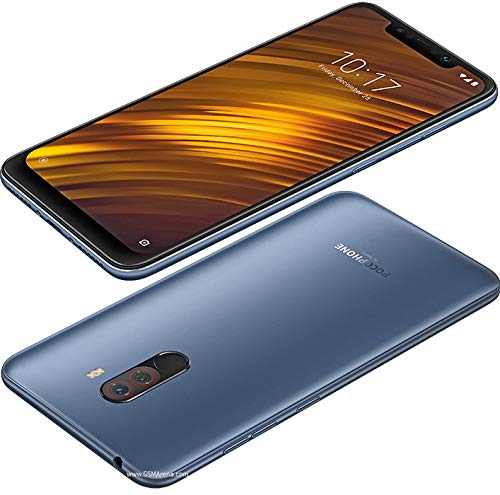 "Xiaomi Pocophone F1 64GB + 6GB RAM, Dual Camera, 6.18"" LTE Factory Unlocked Smartphone - Global Version (Steel Blue)"