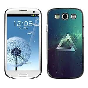 EJOY---Cubierta de la caja de protección la piel dura para el / Samsung Galaxy S3 / --Psychedelic Grometry Triángulo del espacio
