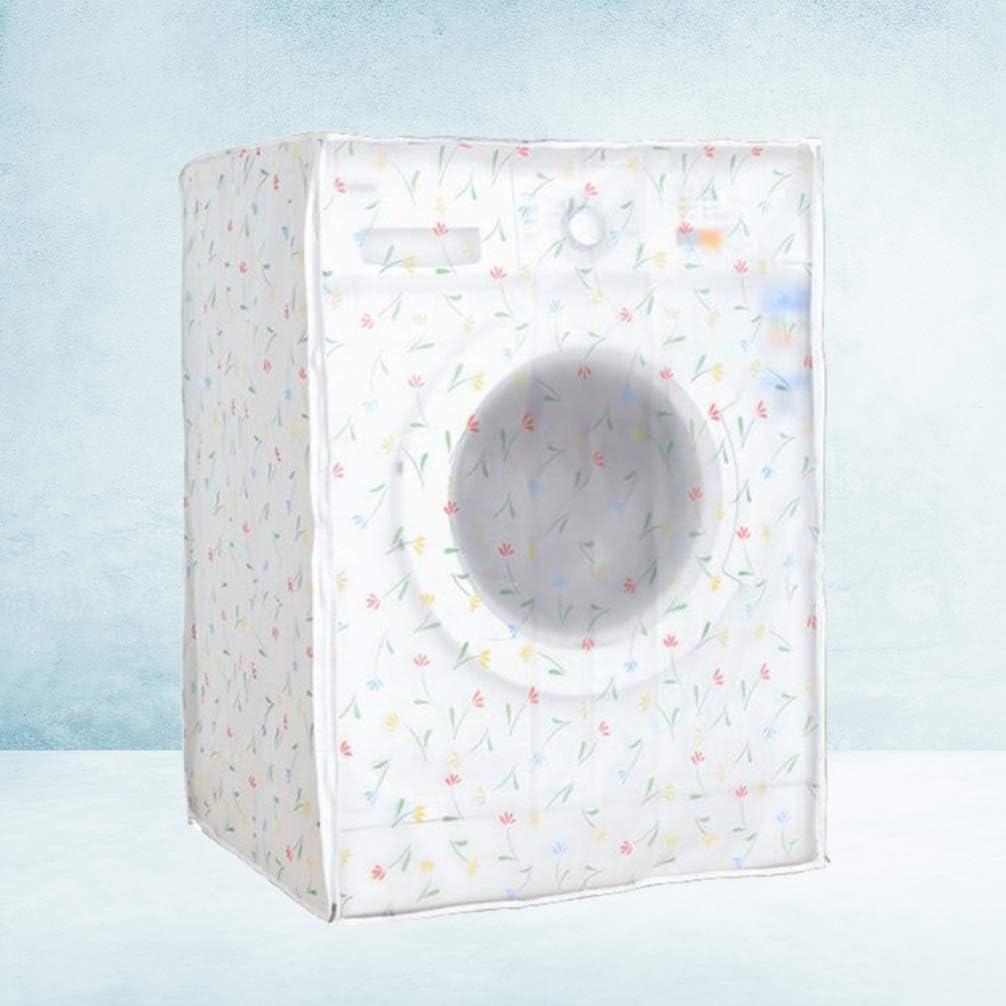 TOPBATHY Washing Machine Cover Front Load Automatic Washer Dryer Cover Waterproof Dustproof Anti-splash Zippered 60x55x82cm
