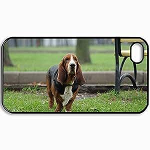 Fashion Unique Design Protective Cellphone Back Cover Case For iPhone 4 4S Case Dog Black by icecream design