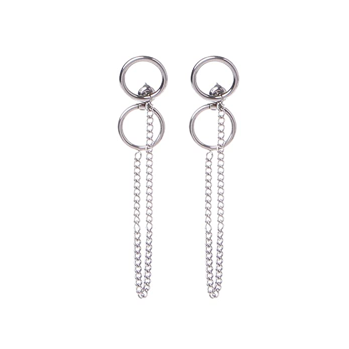 Richi 1 Pair Kpop Titanium Tassel Fashion Earrings Korean Jewelry by Richi