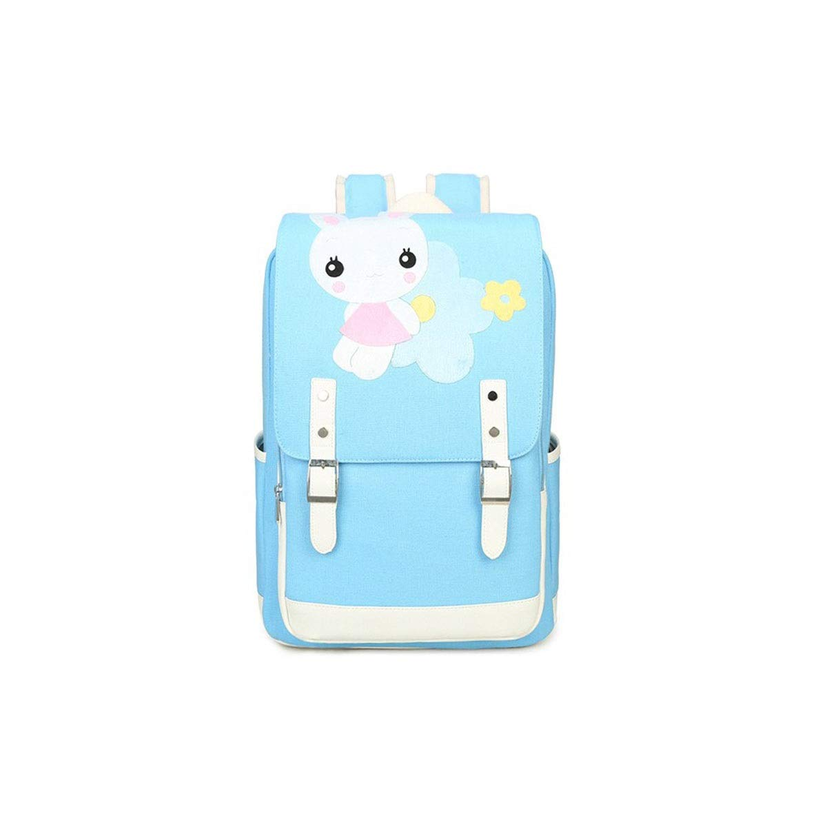TONGBOSHI Simple Fashion Backpack, School Bag Primary School Student, Girl Leisure Travel Travel Backpack, Lightweight Backpack (Color : Blue, Size : S)
