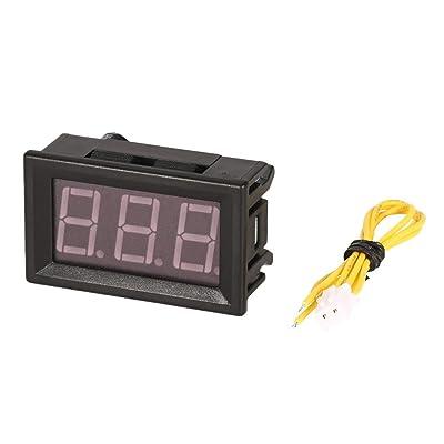 5pcs 70-380v 2 fils fil panneau d'affichage à voltmètre voltmètre électrique voltmètre testeur pour voiture voiture moto batterie Bricolage