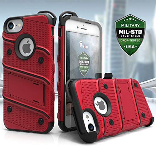 ZIZO Bolt Series iPhone 8 Case Military Grade Drop Tested with Tempered Glass Screen Protector, Hols - coolthings.us