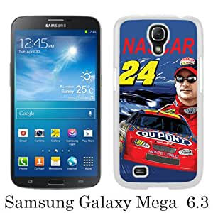 Beautiful And Unique Designed Case For Samsung Galaxy Mega 6.3 I9200 With Nascar Jeff Gordon white Phone Case