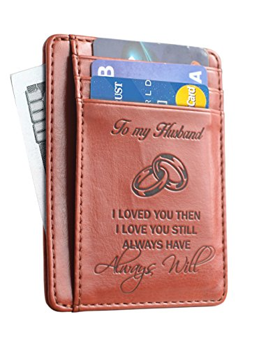 Memory Wife To Husband Gift, Best Anniversary Gifts For Him slim Wallet...