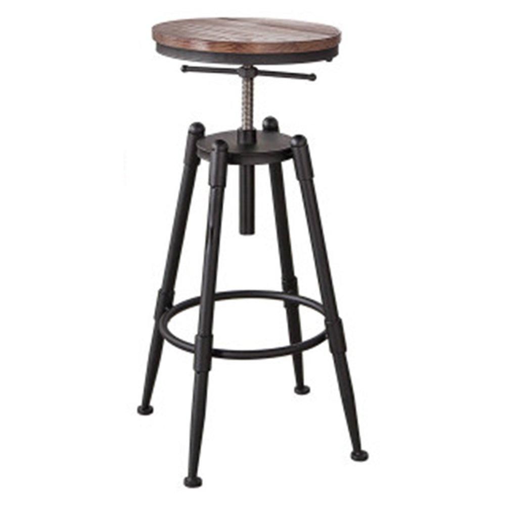 Style 1 QIDI Bar Stool Simple Rise Drop Iron High -90cm (color   Style 4)