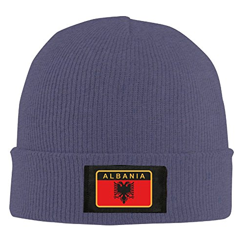 Skull Cool Cap Albanian Army Badge Daily Beanie Navy