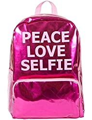 Fashion Angels Style Lab Metallic Pink Peace Love Selfie Backpack